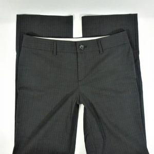 Banana Republic Logan Fit Pants Gray Pinstripe 8 L